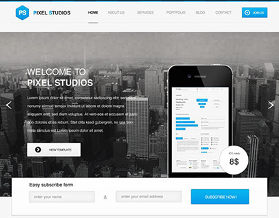 Pixel Studio Responsive WordPress Theme