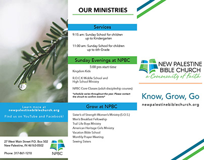 New Palestine Bible Church Brochure