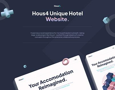 Hous4 Hotel Website