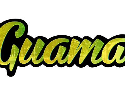 Guama - lettering design