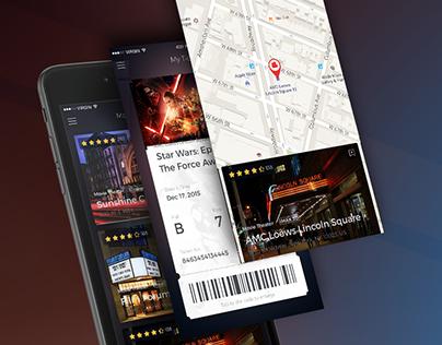 Cinema Tickets App Design