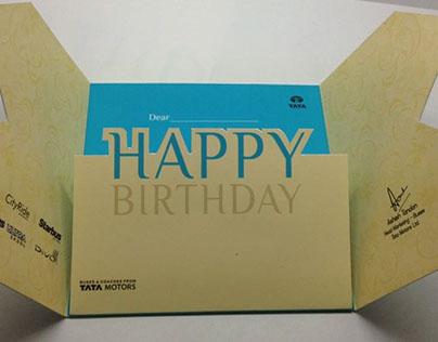 Tata Motors Birthday card