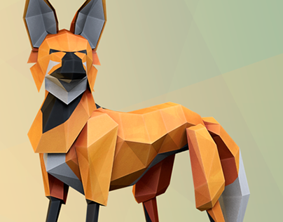 Lobo Guara - Low Poly Concept