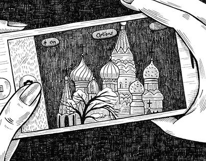 Ink illustrations for Chronometer magazine