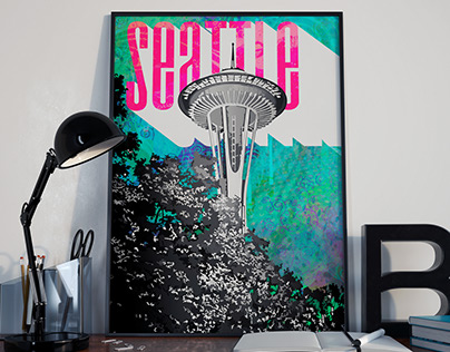 Just for fun - poster of Seattle Space Needle :)