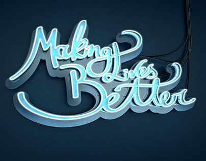 3D Logo Making Lives Better Kimberly Clark
