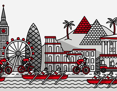 HSBC Illustration Campaign