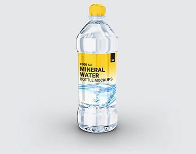 Plastic Mineral Water Bottle Mockups