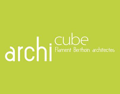 Cabinet d'architectes : logo & papeterie colorés