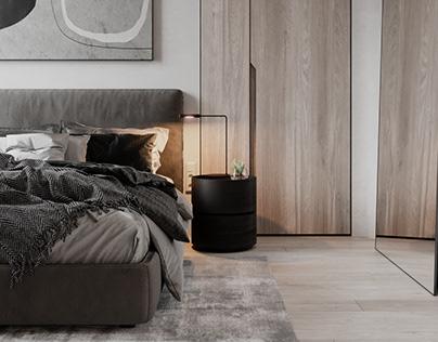 Private house Taganrog. Master bedroom design