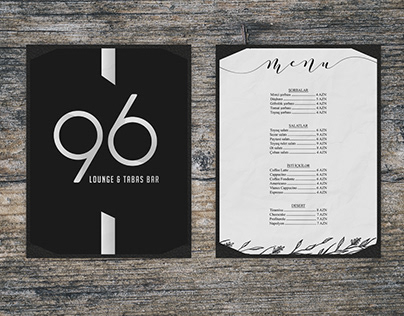 96 Lounge & Tabas Bar Menu