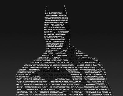 Typography Batman