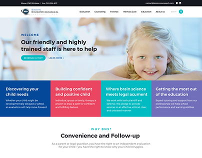New website for Boston Neuropsychological Services