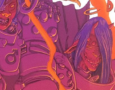 Ares pinup for Locust Moon comics Prometheus anthology