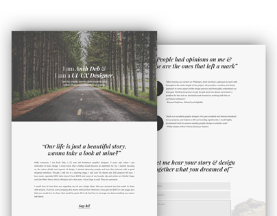 Personal website redesign - Day 17 #180daysofui