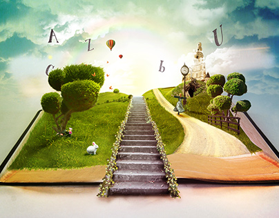 Magical world of books.