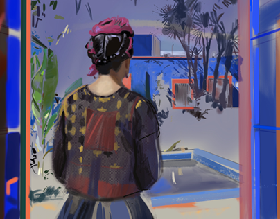 Digital paintings / Portraits / La looks at art