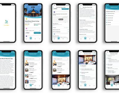 Hotel booking iOS app concept