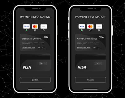 Credit Card Checkout #DailyUI #002