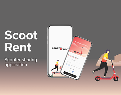 Online scooter sharing app