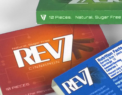 REV7 GUM packaging and brand update (concept)