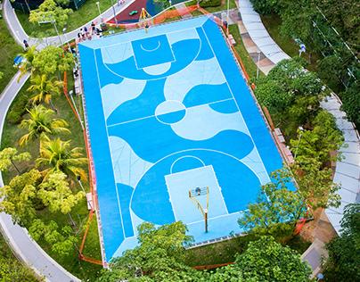 KEJIRANAN - Punggol basketball court mural