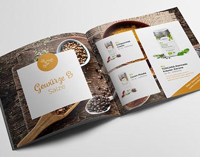 Konzept, Satz und Layout einer Broschüre für Onlineshop