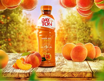 Подача вкусов DAYTON tea для корпоративного сайта