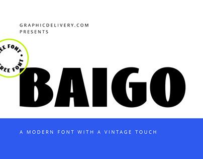 Baigo Free Font