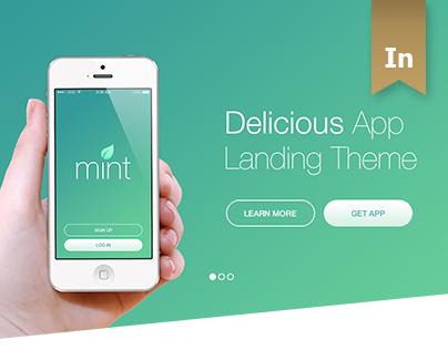 Delicious App Landing Theme