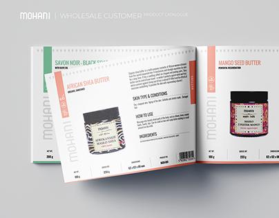 Mohani - wholesale customer product catalogue design.