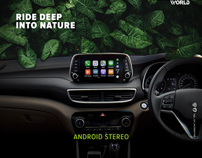Android Stereo Advertisement Designed by Instadesign.