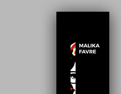 Poster e Folder: Malika Favre