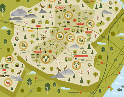 Ánima interior - Mapa turístico ilustrado