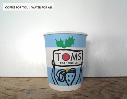 TOMS special xmas coffee cups ,2015.