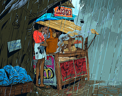 Rain and life - Collection of Illustrations