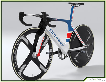 3D Track Bicycle Animated HQ 001
