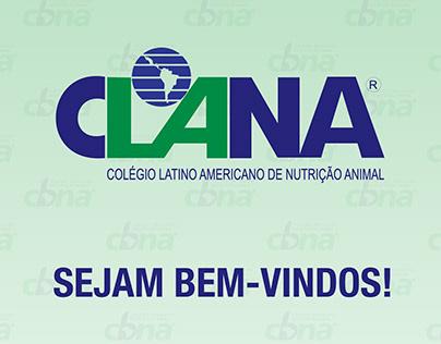 """Artes para evento """"CLANA 2018"""" da CBNA"""