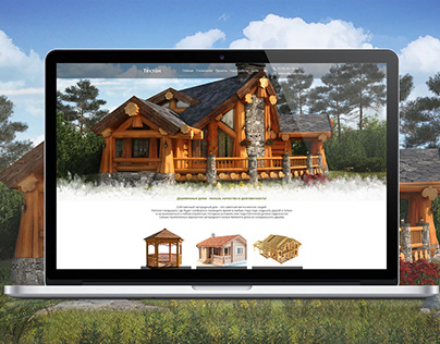 Website of the company on production of wooden houses