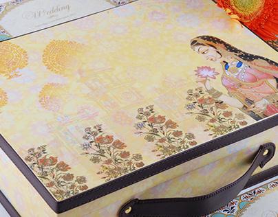 Mughal Miniature Inspired Wedding Invite