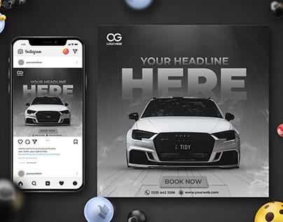 Rent a Car Banner | Social Media Post