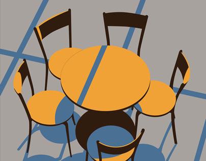 Chairs—flat illustration