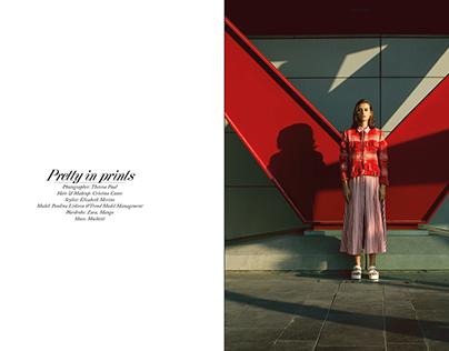 Pretty in prints for ELEGANT MAGAZINE