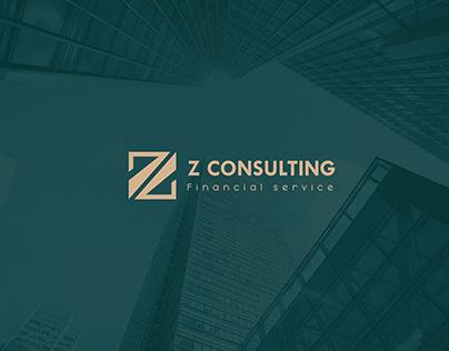 Z consulting Financial service Branding identity (KSA)