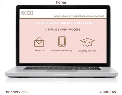 Wireframes for OHXI Website Design