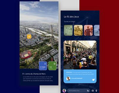 Paris Olympic Games 2024   Mobile App Concept