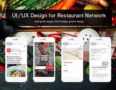 UI/UX Design for Restaurant Network