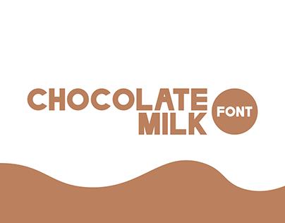 Chocolate Milk Font