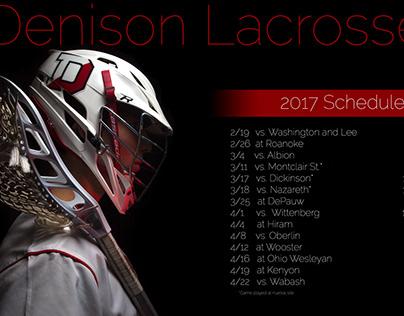 Denison Lacrosse Poster 2017
