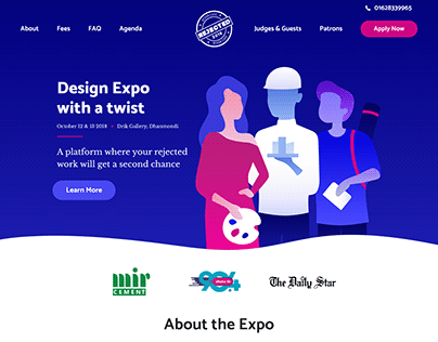Rejected Expo 2018: Event planning and branding